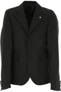Giacca nera con ricami scritte nere