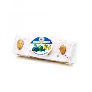 Stecca torrone mandorle e miele aromatizzato al mirto a vista – 200 g