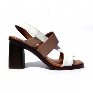Sandalo taupe/bianco Melluso
