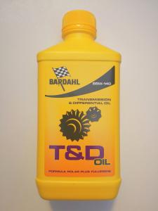 OLIO CARDANO, TRASMISSIONE e DIFFERENZIALE  BARDAHL T&D OIL - SAE 85W140