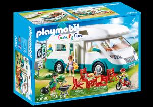 PLAYMOBIL CAMPER CON FAMIGLIA IN VACANZA 70088