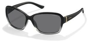 Polaroid - Occhiale da Sole Donna, Black Gradient/Crystal Grey Polarized PLD 5013/S LLG/Y2  C59