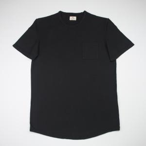 T-shirt nera in cotone Tela Genova
