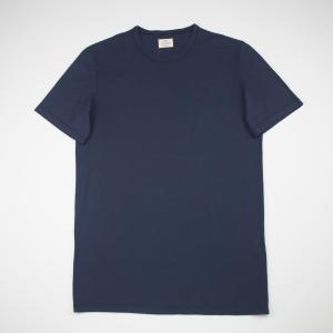 T-shirt blu notte in cotone Tela Genova
