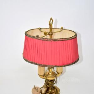 Lampada Antica In Ottone