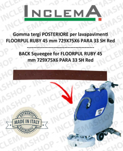Back Squeegee Rubber (optional) for Scrubber Dryer FLOORPUL RUBY 45