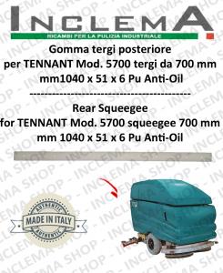 5700 GOMMA TERGI poateriore PU anti olio per lavapavimenti TENNANT - squeegee 700 mm