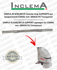 SIMPLA 45 B/BS/BST/E Squeegee Rubber SUPPORTO for  lavapavimenti COMAC