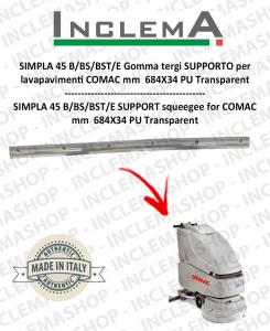 SIMPLA 45 B/BS/BST/E Gomma tergi SUPPORTO per  lavapavimenti COMAC