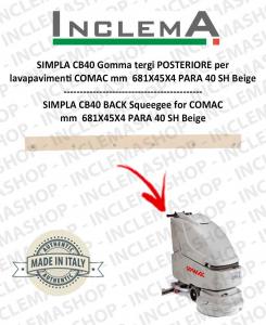 SIMPLA CB40 goma de secado trasero para fregadora COMAC