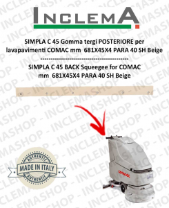 SIMPLA C 45 Back Squeegee Rubber for Scrubber Dryer COMAC