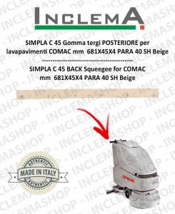 SIMPLA C 45 goma de secado trasero para fregadora COMAC