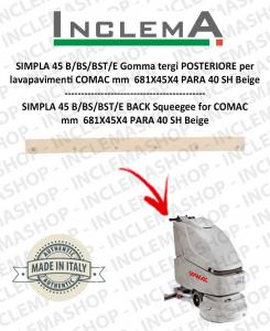 SIMPLA 45 B/BS/BST/E Hinten Sauglippen für Scheuersaugmaschinen COMAC