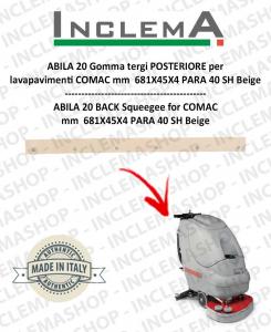 ABILA 20 Hinten Sauglippen für Scheuersaugmaschinen COMAC Alluminium sq till s/n 109000129
