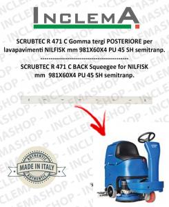 SCRUBTEC R 471 C goma de secado trasero para fregadora NILFISK