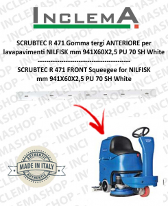 SCRUBTEC R 471 Vorne Sauglippen für Scheuersaugmaschinen NILFISK