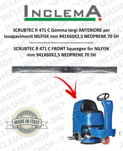 SCRUBTEC R 471 C goma de secado delantera para fregadora NILFISK-2