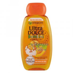 GARNIER ULTRA DOLCE Shampoo bambini 2 in 1 all'Albicocca e Fiori di Cotone 400 ml