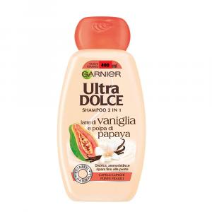 GARNIER ULTRA DOLCE Shampoo Latte di Vaniglia & polpa di Papaya 400 ml