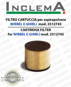 FILTRO CARTUCCIA COD. 2512743 per ASPIRAPOLVERE GHIBLI E WIRBEL