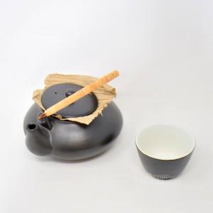 Servizio Giapponese Per Tè 4+1 Nero