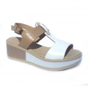 Sandalo bianco/beige Repo