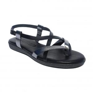 Sandalo nero basso Raquel Perez