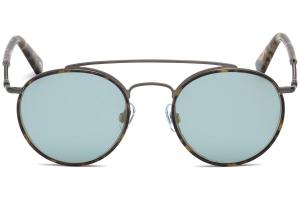 Web - Occhiale da Sole Uomo, Blonde Havana Ruthenium/Light Blue Gold Mirror WE0188 08X C51