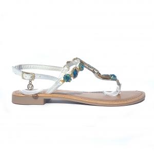 Sandalo bianco con stella Gardini