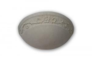 Applique in  pietra leccese con fantasia floreale - Lampada da muro in pietra