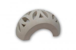 Applique in pietra leccese con fori a foglia  - lampada da muro in pietra