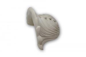 Applique in pietra leccese in stile foglie acanto - lampada da parete in pietra