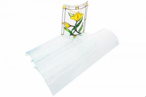 Coppo di vetro con effetto gocciolato