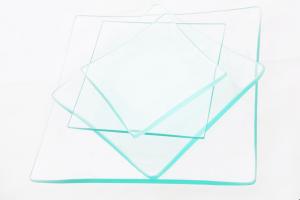 Piatto quadrato di vetro trasparente idoneo alla decorazione