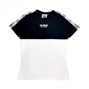T-Shirt Jersey Bull Dog White/Black M/M G/C+Stampa TBDA398