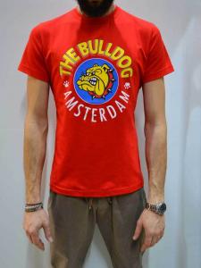T-Shirt The Bulldog Jersey M/M G/C+Stampa TBDA251 Rosso