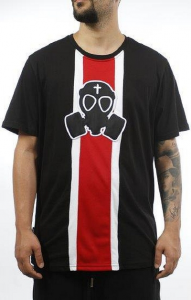 T-Shirt Butnot Nera Con Rosso + Stampa U9124