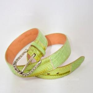 Cintura Vero Rettile Verde (lunghezza 100cm)
