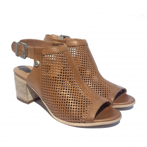 Sandalo spuntato cuoio Nero Giardini