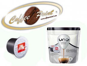 Capsule Uno System Illy Nera 16 pezzi