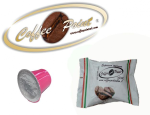 Caffè in Capsule compatibili Nespresso, confezione 100 capsule, italiano cremoso Coffee Point Nera