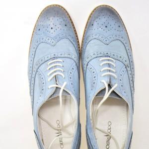 Scarpe Azzurre Pelle N 39