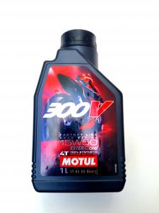 OLIO MOTORE MOTUL 300V ROAD RACING per MOTO 4 TEMPI - 100% SINTETICO  SAE 15W50