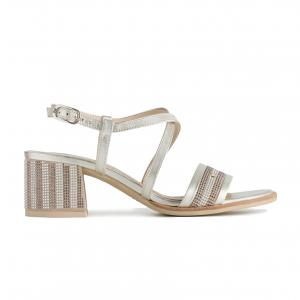 Sandalo platino Nero Giardini