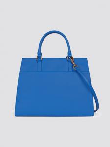 Borsa donna Trussardi Jeans Tote in saffiano blu