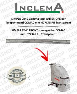 SIMPLA CB40 goma de secado delantera para  fregadora COMAC