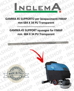 GAMMA 45 Squeegee Rubber SUPPORTO for Scrubber Dryer FIMAP