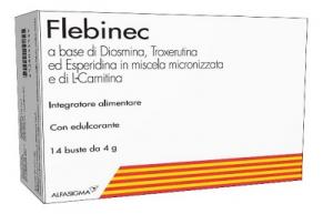 FLEBINEC BUSTINE - INTEGRATORE DI DIOSMINA UTILE PER SOSTENERE IL MICROCIRCOLO