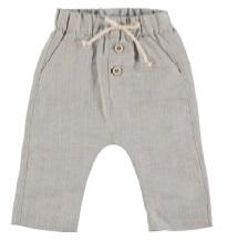 Pantalone grigio con laccio beige