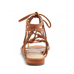 Sandalo basso incrociato cuoio Guess
